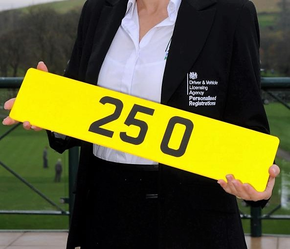 DVLA employee hold UK most expensive number plate that shows '25 0'