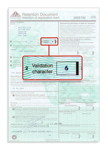 Where To Find Your V778 Validation Character