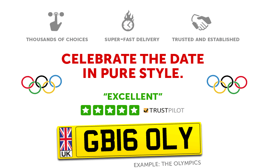 Mark the date with a Number Plate.