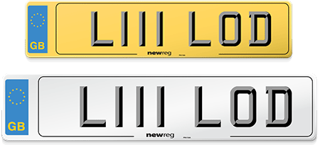 Example of a vehicle number from NewReg's cheapest number plates choices