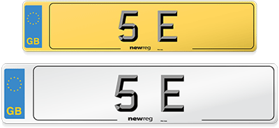 Example of a vehicle number plate using the current plate design