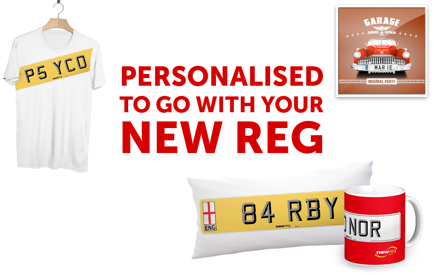 Number Plate Merchandise from New Reg