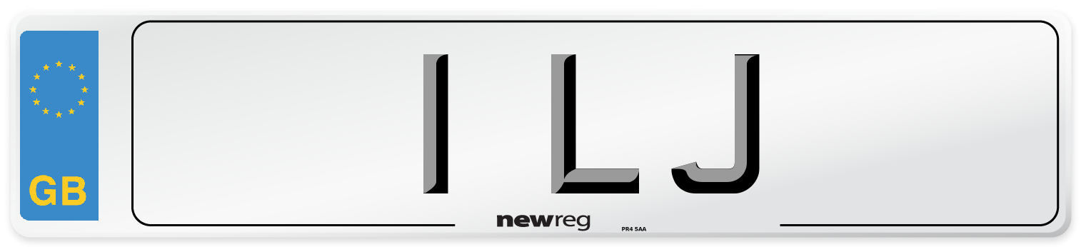 1 LJ Number Plate from New Reg