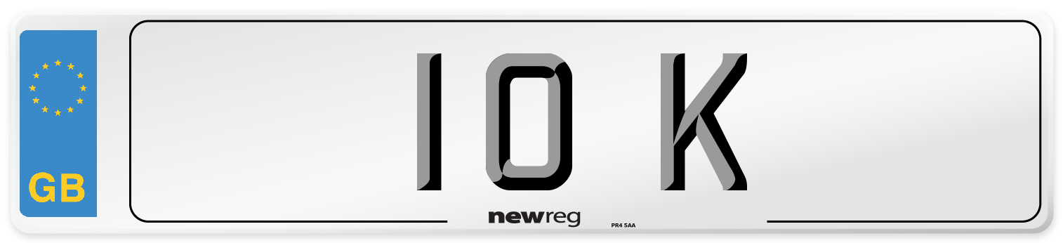 10 K Number Plate from New Reg