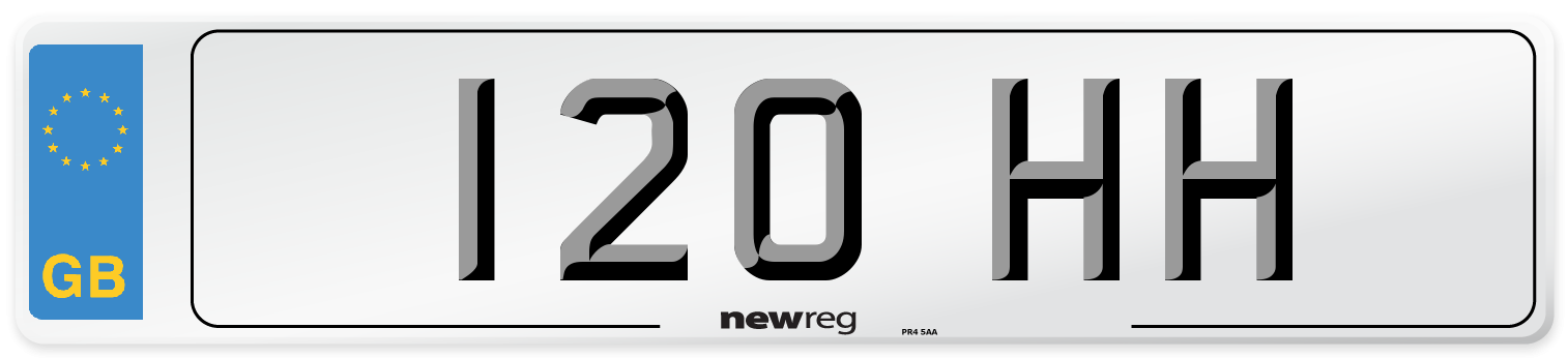 120 HH Number Plate from New Reg