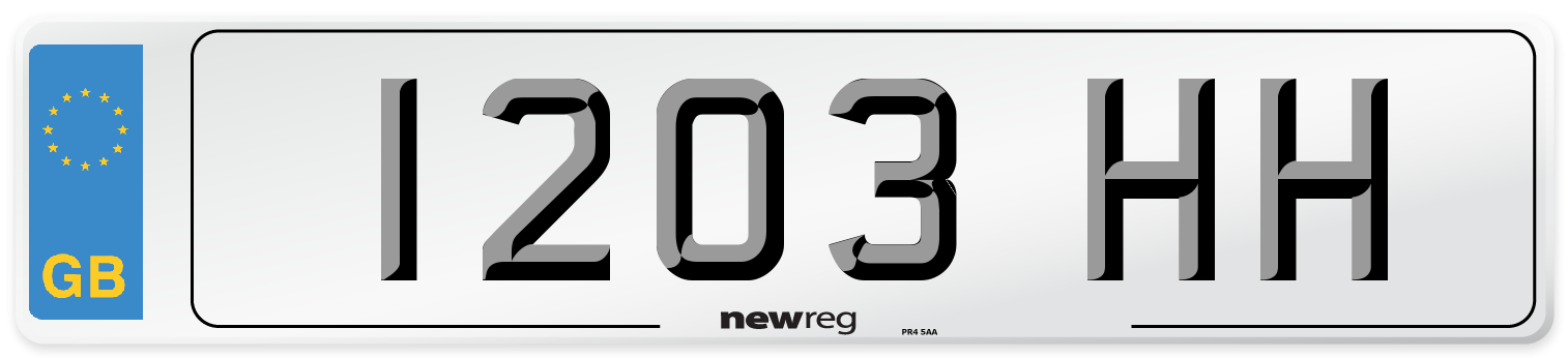 1203 HH Number Plate from New Reg