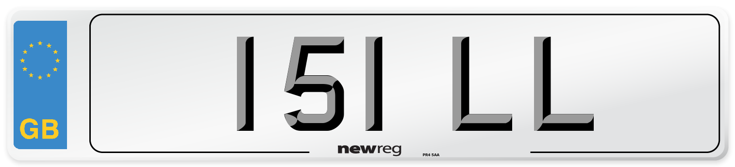 151 LL Number Plate from New Reg