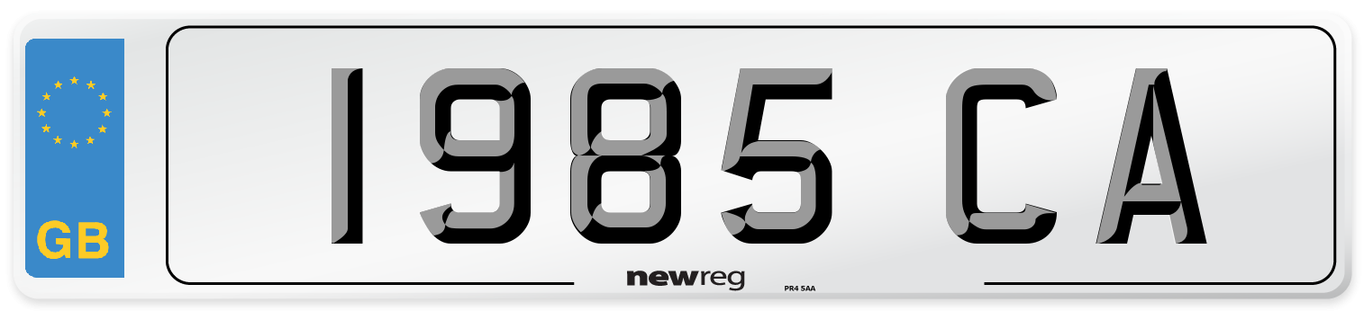 1985 CA Number Plate from New Reg