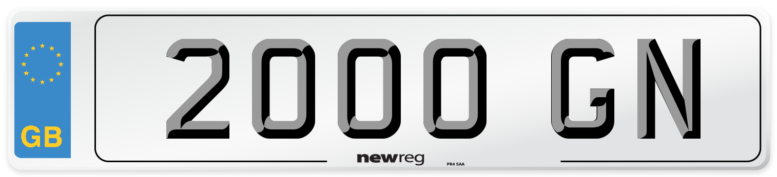 2000 GN Number Plate from New Reg