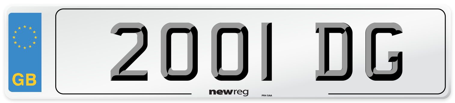 2001 DG Number Plate from New Reg