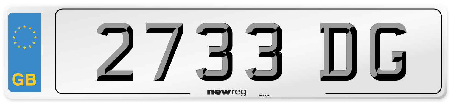2733 DG Number Plate from New Reg