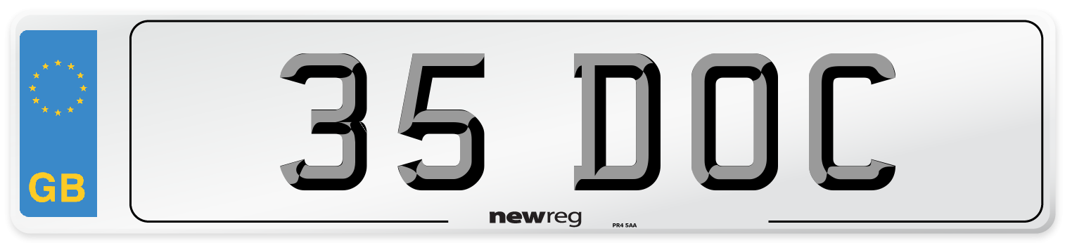 35 DOC Number Plate from New Reg