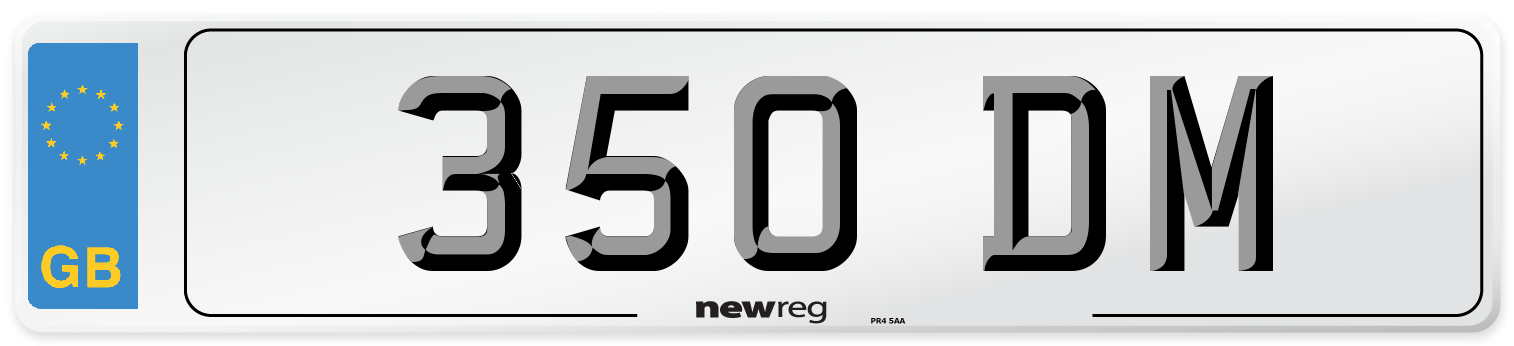 350 DM Number Plate from New Reg