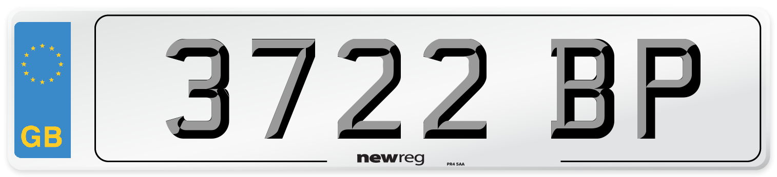 3722 BP Number Plate from New Reg