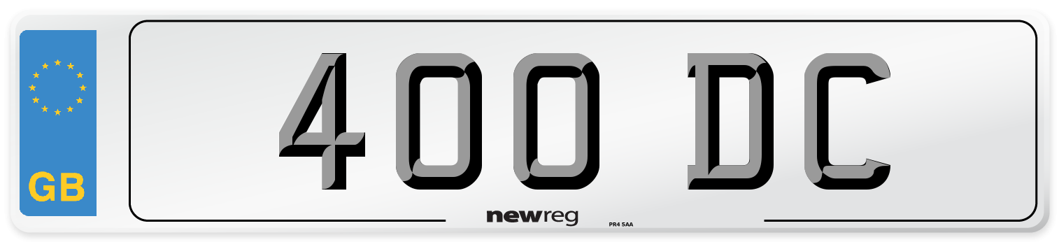 400 DC Number Plate from New Reg