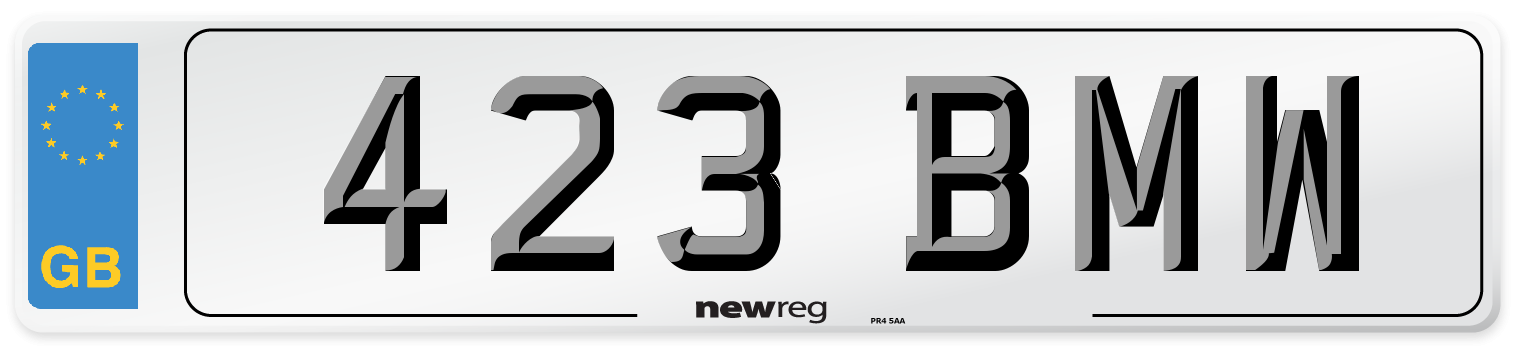 423 BMW Number Plate from New Reg