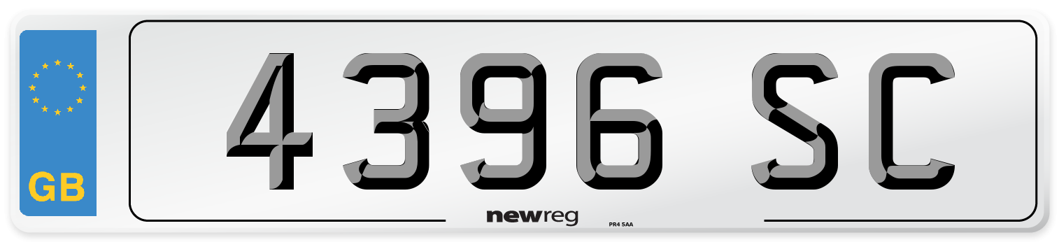 4396 SC Number Plate from New Reg