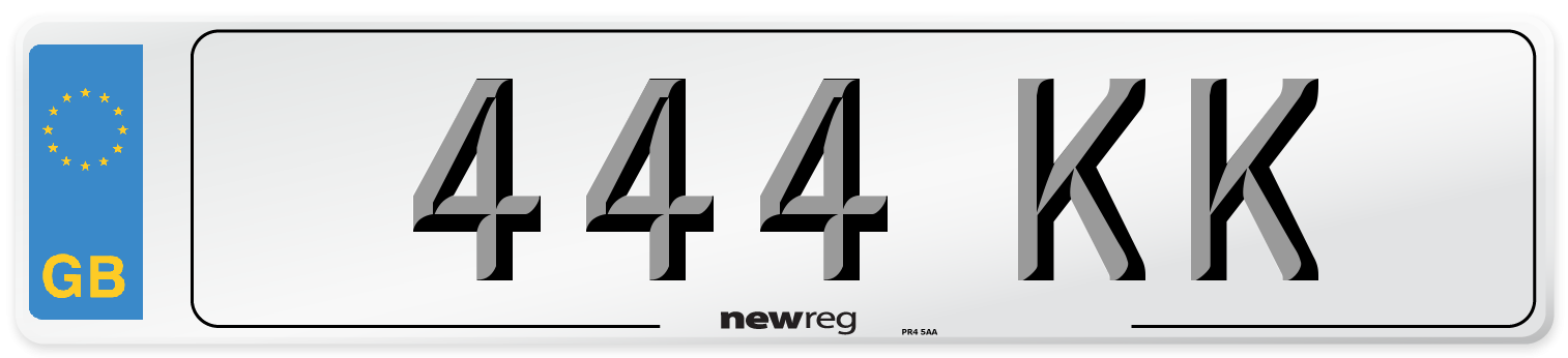 444 KK Number Plate from New Reg
