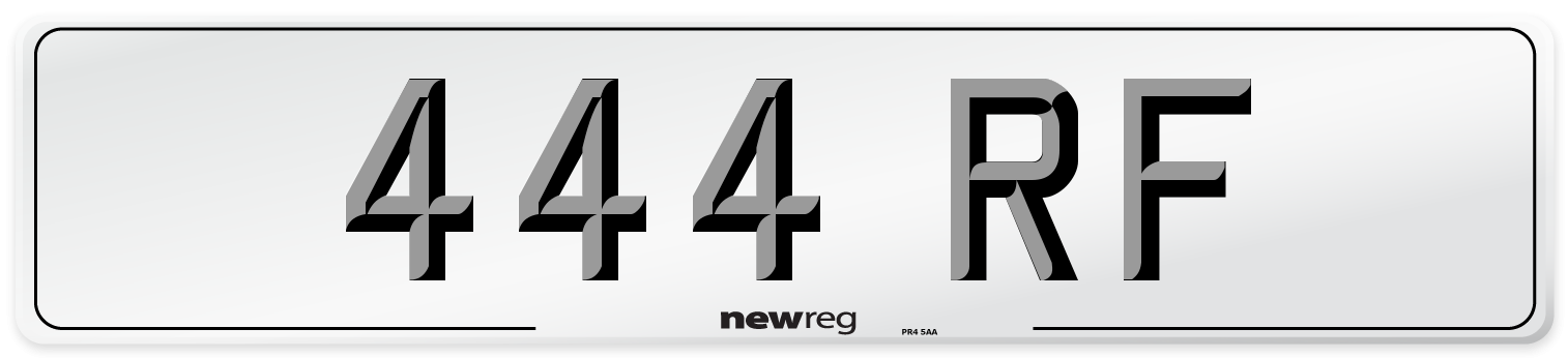 444 RF Number Plate from New Reg