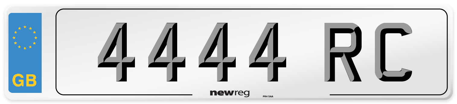 4444 RC Number Plate from New Reg