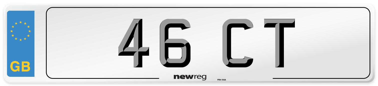46 CT Number Plate from New Reg