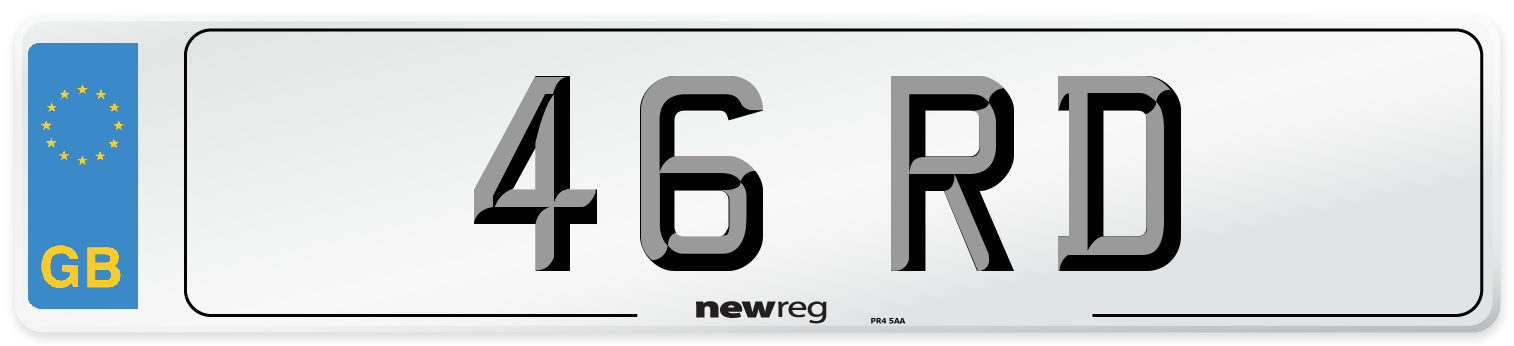 46 RD Number Plate from New Reg