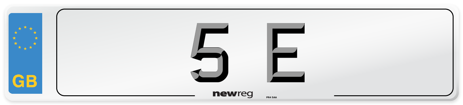 5 E Number Plate from New Reg