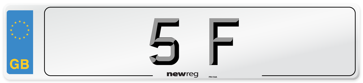 5 F Number Plate from New Reg