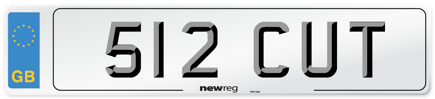 512 CUT Number Plate from New Reg