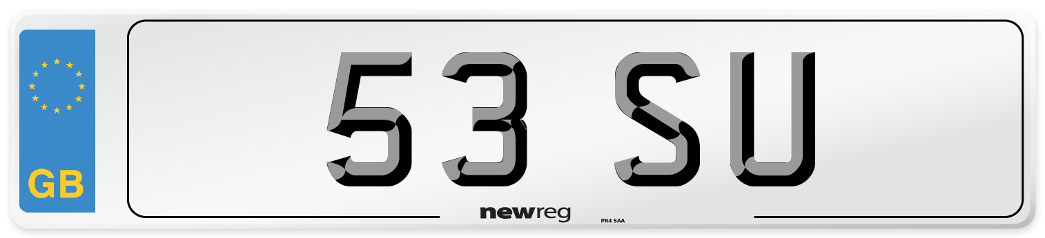 53 SU Number Plate from New Reg