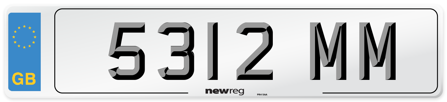 5312 MM Number Plate from New Reg