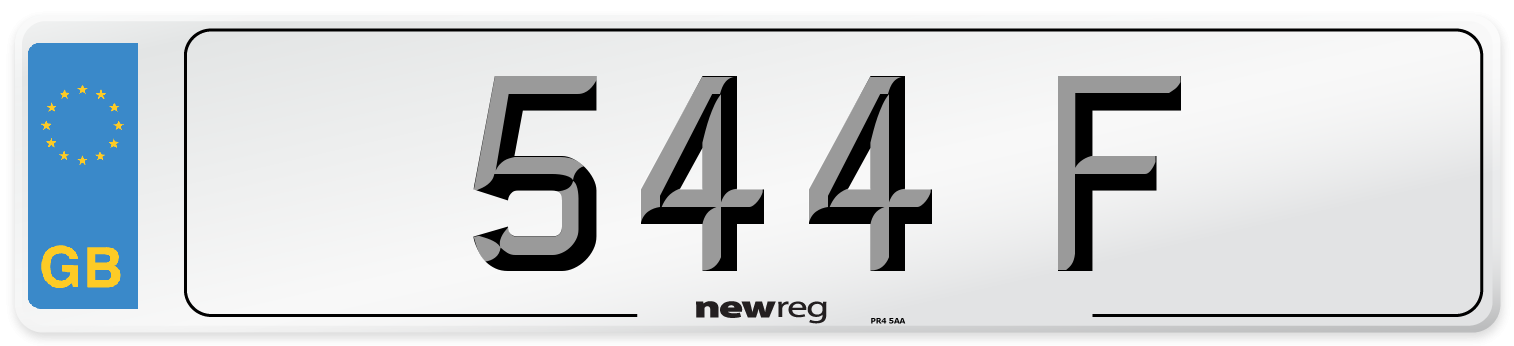 544 F Number Plate from New Reg