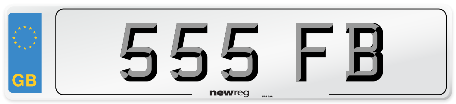 555 FB Number Plate from New Reg