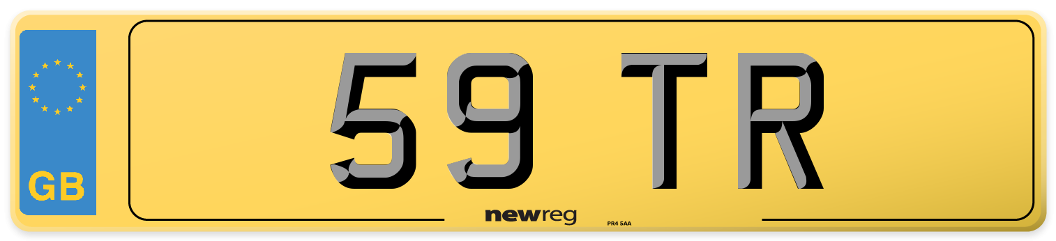 59 TR Rear Number Plate
