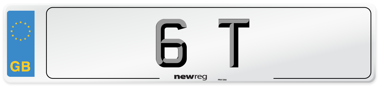6 T Number Plate from New Reg