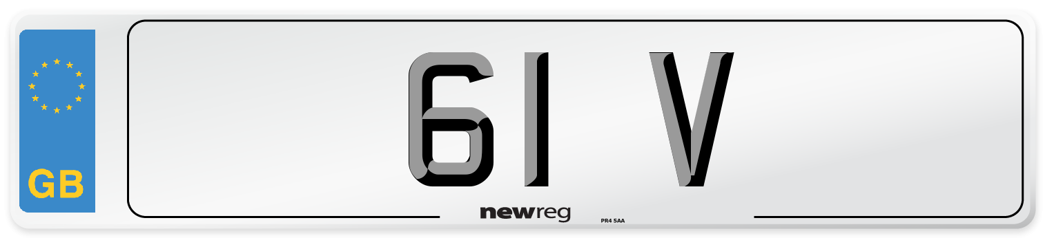 61 V Number Plate from New Reg