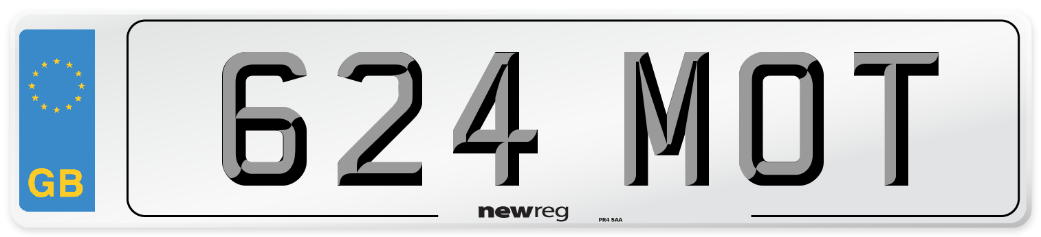 624 MOT Number Plate from New Reg