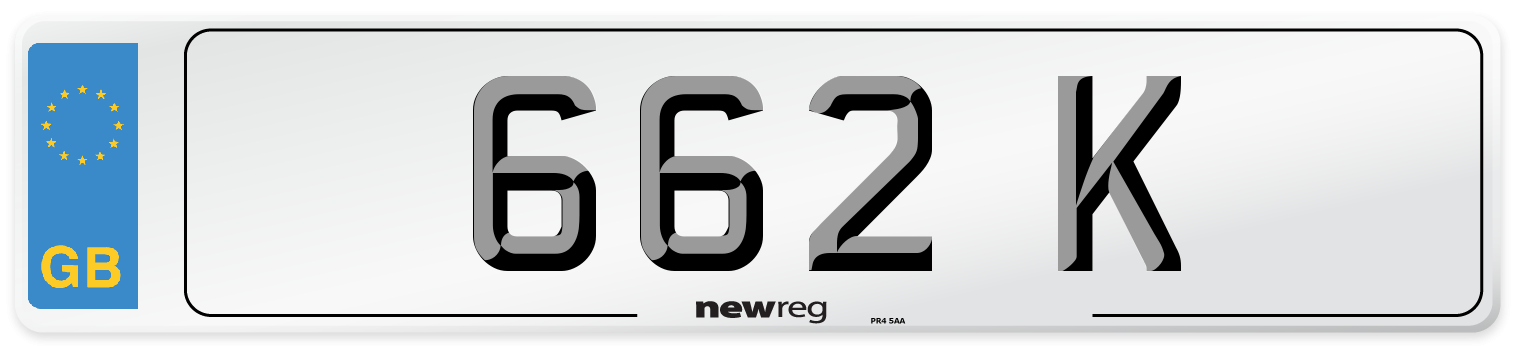 662 K Number Plate from New Reg