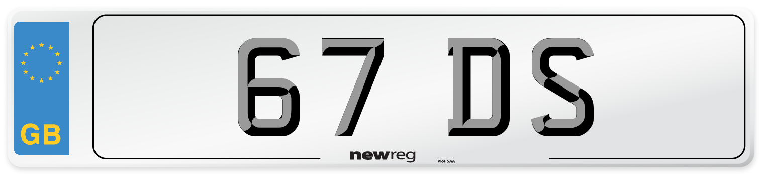 67 DS Number Plate from New Reg