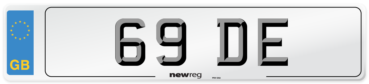 69 DE Number Plate from New Reg