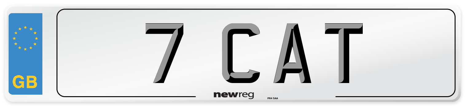 7 CAT Number Plate from New Reg
