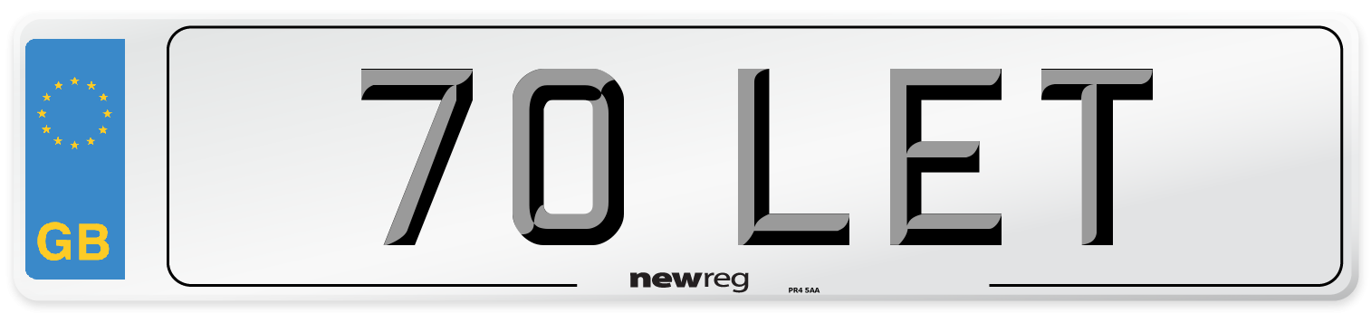 70 LET Number Plate from New Reg