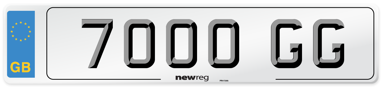 7000 GG Number Plate from New Reg