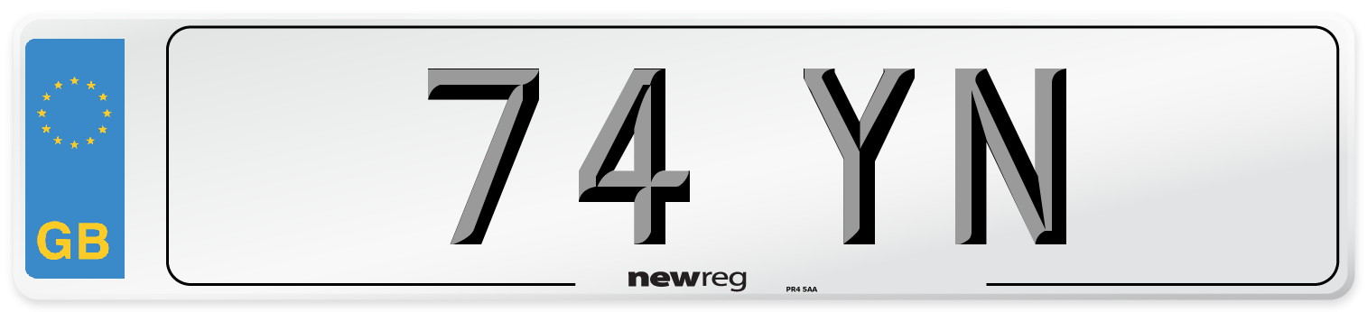 74 YN Number Plate from New Reg