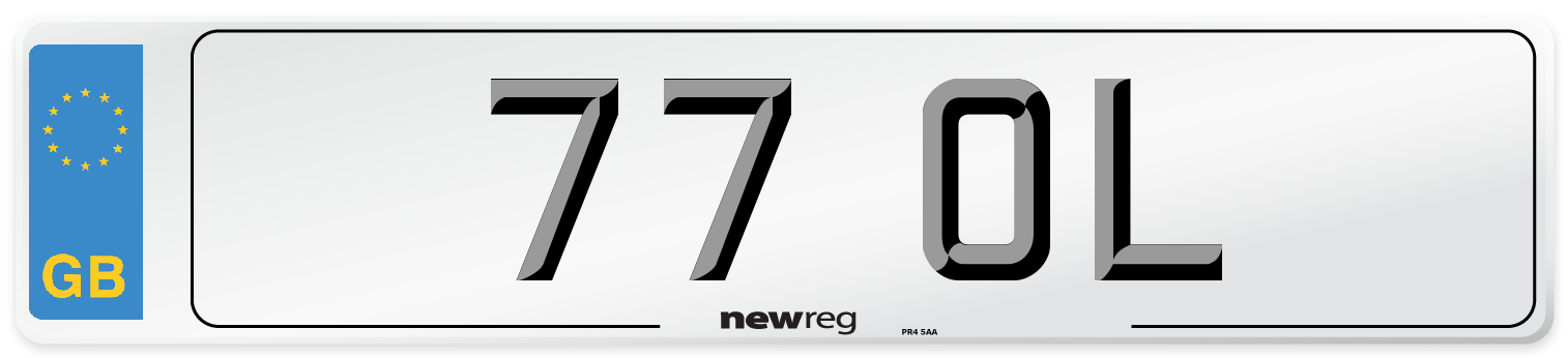77 OL Number Plate from New Reg