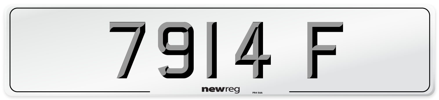 7914 F Number Plate from New Reg