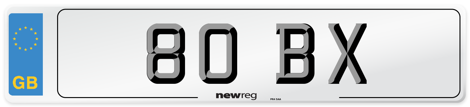 80 BX Number Plate from New Reg