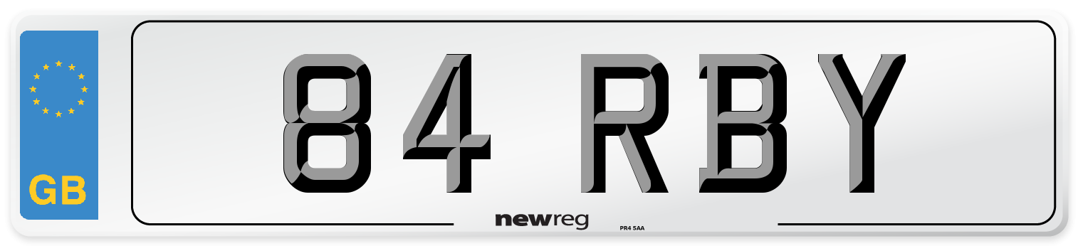 84 RBY Number Plate from New Reg