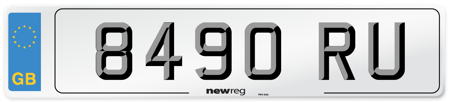 8490 RU Number Plate from New Reg