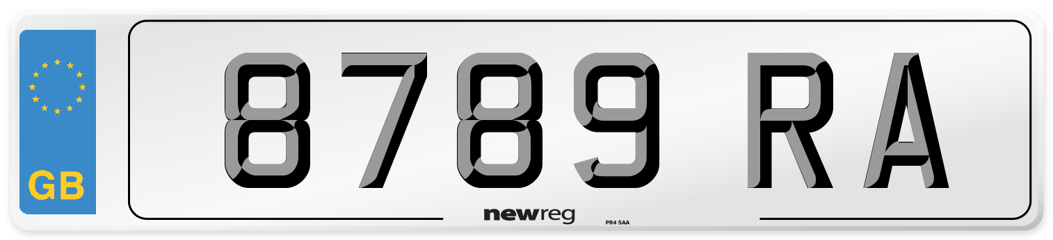8789 RA Number Plate from New Reg
